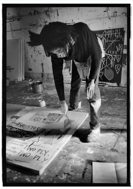 , 'Basquiat  painting with cigarette,' 1983, Galerie Peter Sillem