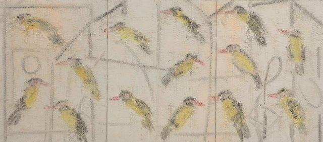 Hunt Slonem, 'Orioles Triptych', 1993, Heritage Auctions