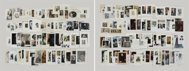 , 'Folder: Beards & Mustaches,' 2012, Gagosian