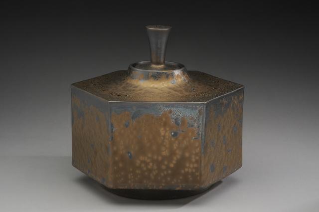 Hideaki Miyamura, 'Hexagon box, bronze glaze', 2019, Other, Porcelain, Pucker Gallery