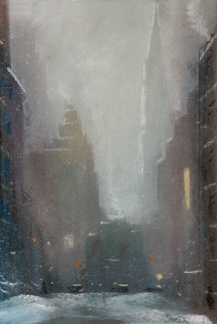 , 'New York City in the Snow,' , Questroyal Fine Art