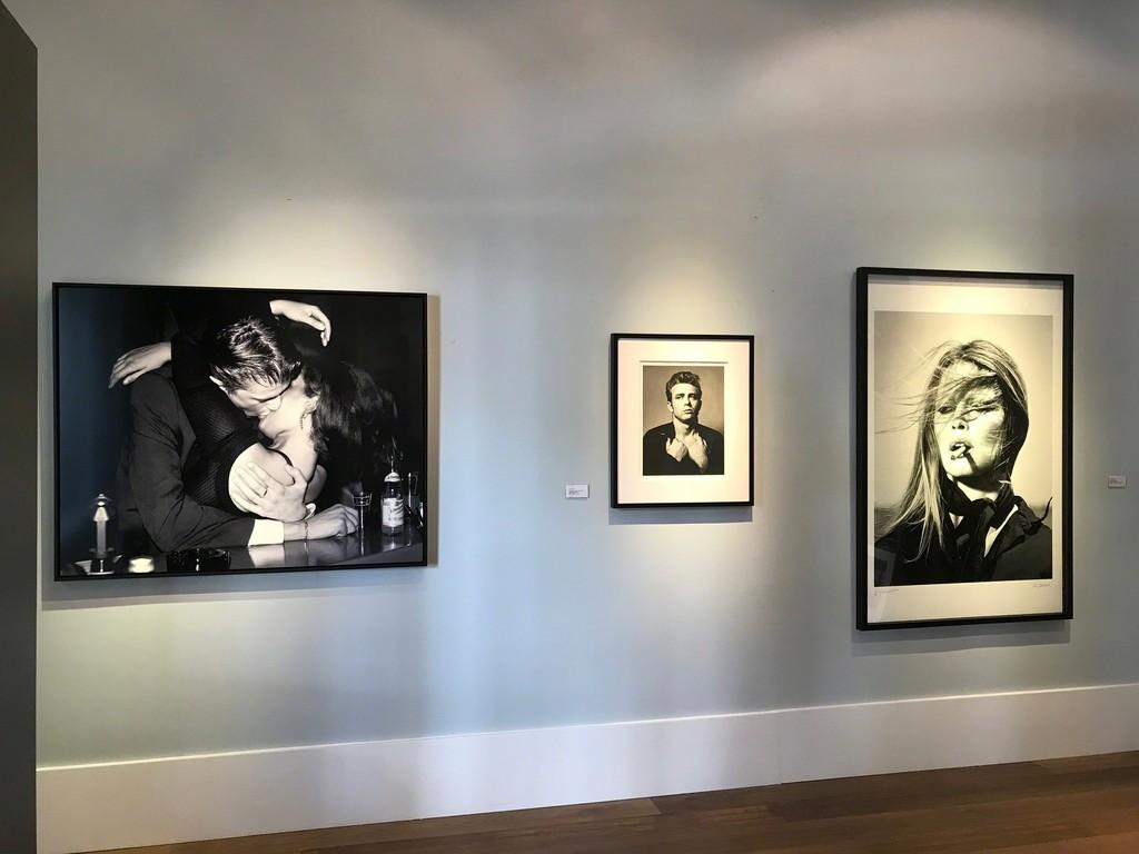 Harry Benson, Berlin Kiss, 1996 Roy Schatt, James Dean (from the Torn Sweater series), 1954 Terry O'Neill, Brigitte Bardot, Cigar, 1971