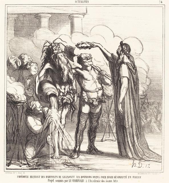 Honoré Daumier, 'Empedocle recevant... les honneurs divins...', 1866, National Gallery of Art, Washington, D.C.