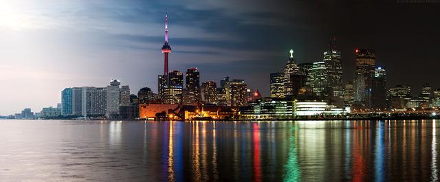 , 'Night & Day - Toronto Skyline,' 2015, Andrew Prokos Gallery