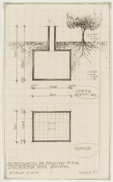 , 'Anteproyecto de arquitectura carcelaria para artistas,' 1973, Henrique Faria Fine Art