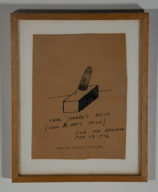 , 'Carl Andre's Brick (Carl and Ray's Prick),' 1976, Hal Bromm