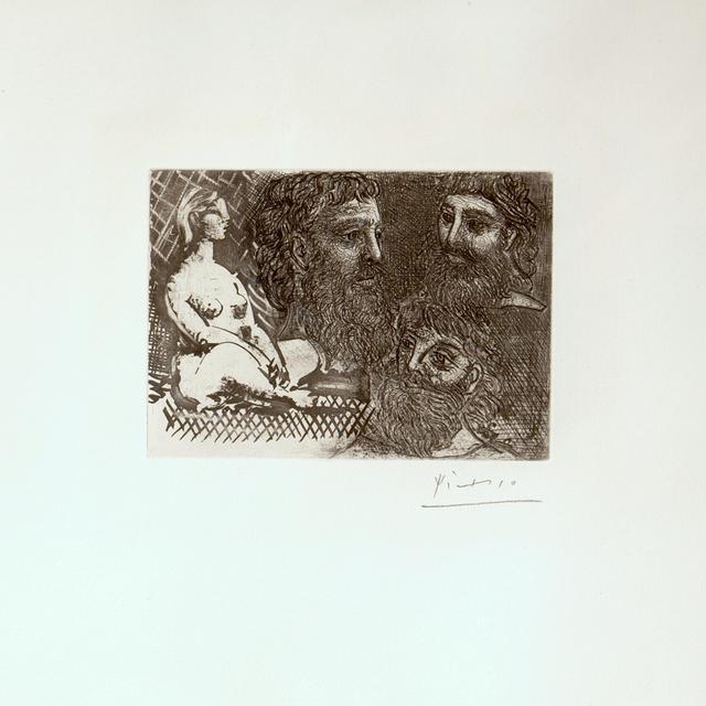 , 'Marie-Therese en idole et trois Grecs Barbus (s.8861),' 1934, Dellasposa