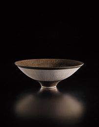 Footed open bowl