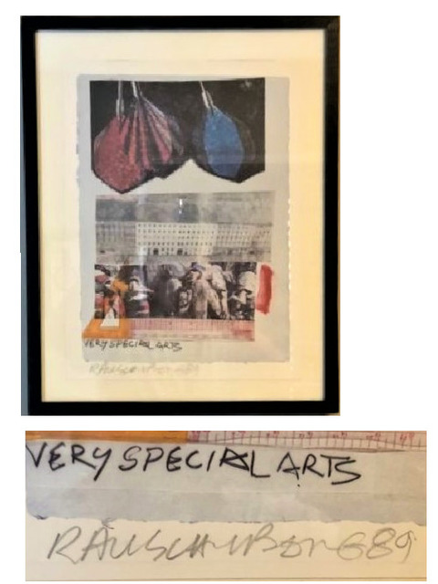 """Robert Rauschenberg, '""""Very Special Arts"""", 1989, SIGNED, A/P, Unknown Edition Size.', 1989, VINCE fine arts/ephemera"""