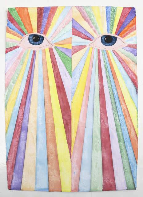 James Rielly, 'Love pours out of your eyes', 2020, Painting, Watercolour on paper, Alzueta Gallery