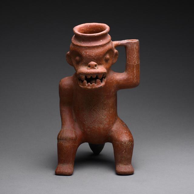 Pre-Columbian, Art of Costa Rica, 'Terracotta Effigy Vessel', ca. 300 AD to 500 AD, Barakat Gallery