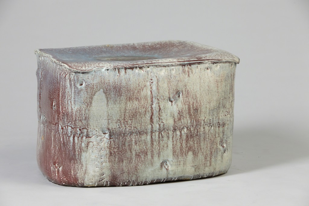 Purple Gray Stool