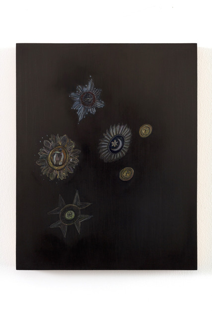 Emma Bennett, 'Felicity, Faith, Fear', 2019, Painting, Oil on oak panel, Charlie Smith London