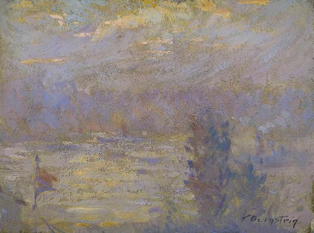 Theresa Bernstein, 'On the Hudson', 20th Century, Painting, Oil on board, Vose Galleries
