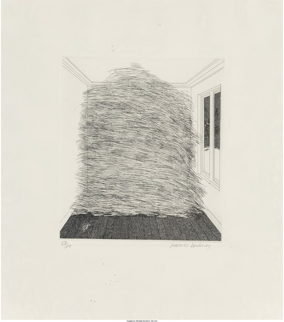 David Hockney, 'A room full of straw, from Illustrations for Six Fairy Tales from the Brothers Grimm', 1969, Heritage Auctions