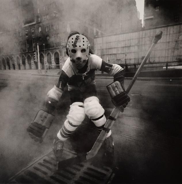 Arthur Tress, 'Hockey Player, NY', 1972, Scheinbaum & Russek Ltd.