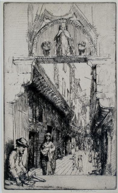 Donald Shaw MacLaughlan, 'Calle del Paradiso, Venice', 1909, Private Collection, NY