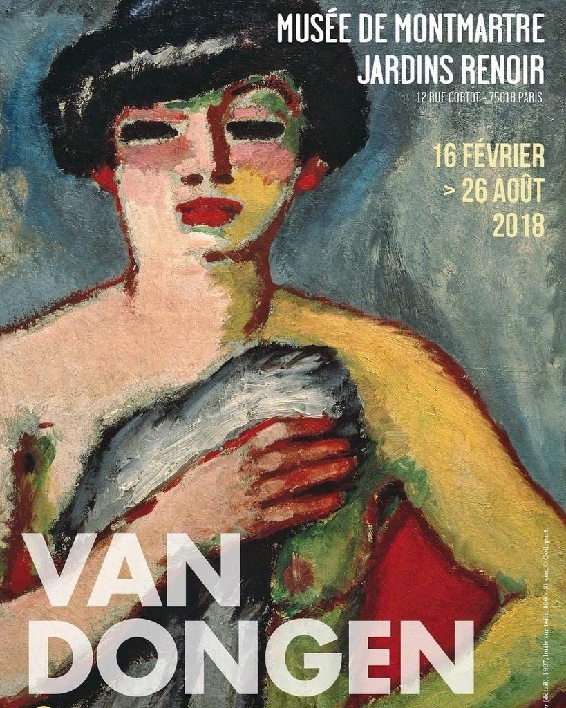 Van Dongen et le Bateau-Lavoir exhibition poster February 16- August 26, 2018