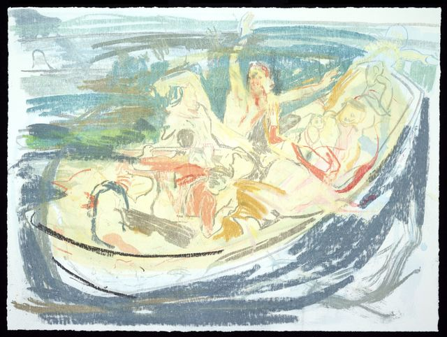 , 'Christ Asleep During the Tempest (After Delacroix),' 2016, Two Palms