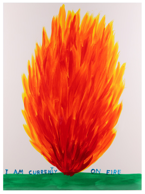 David Shrigley, 'I Am Currently On Fire', 2017, Chiswick Auctions
