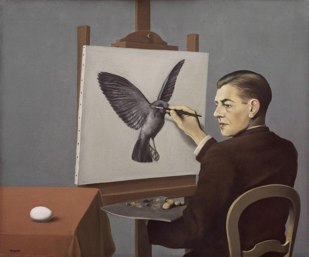 René Magritte Clairvoyance La Clairvoyance 1936