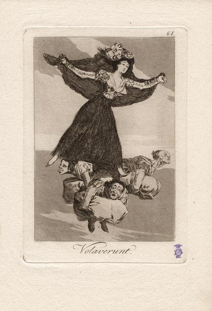 , 'Volaverunt. (They have flown.),' 1796-1797, Seattle Art Museum