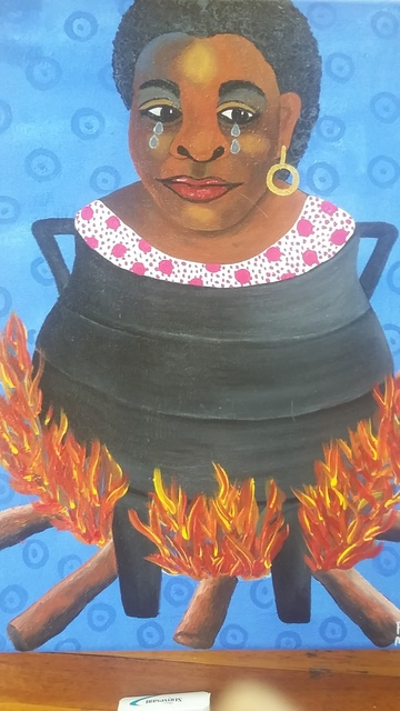Phindile Mamba, 'My in -laws are burning me', 2019, Yebo Art Gallery