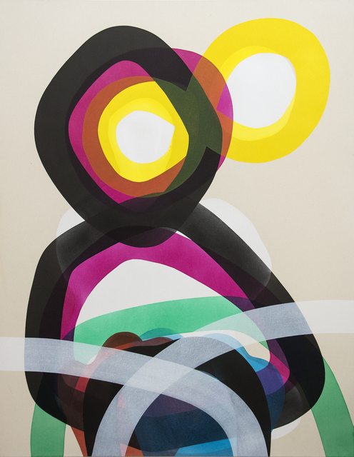 , 'A Figure With Two Black Circles ,' 2016, Oeno Gallery