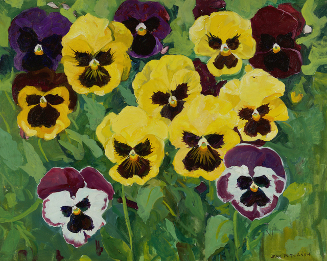 , 'Seven Yellow Pansies,' , Debra Force Fine Art