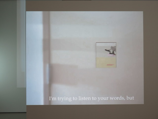 , 'I'm trying to listen to your words, but,' 2016, Jane Lombard Gallery