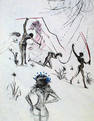 Salvador Dalí, 'Les Negresses (The  Negresses)', 1969, Print, Etching, Puccio Fine Art