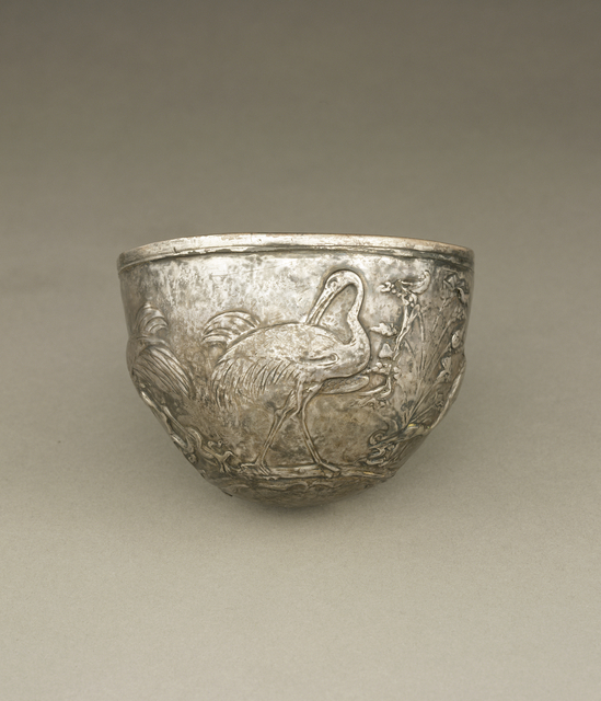 'Bowl with Cranes',  about 25 -1 B.C., J. Paul Getty Museum