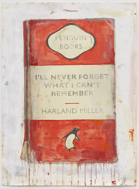 Harland Miller, 'I'll Never Forget What I Can't Remember', 2019, Alex Daniels - Reflex Amsterdam