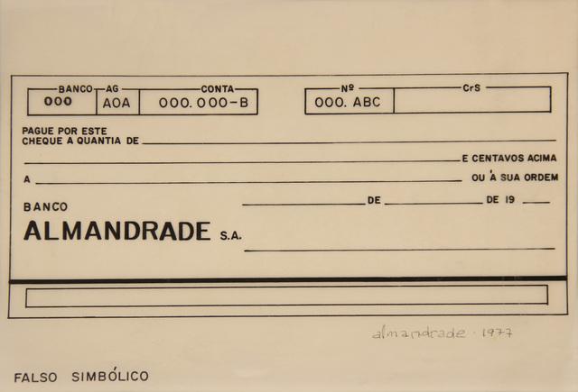 , 'Untitled Visual Poem,' 1977, Roberto Alban Galeria de Arte
