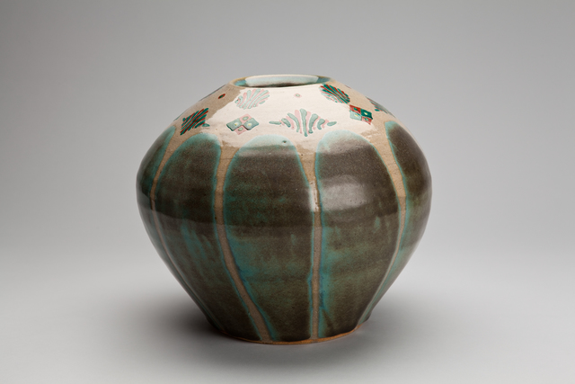 , 'Vase, celadon glaze with akae decoration,' 2012, Pucker Gallery