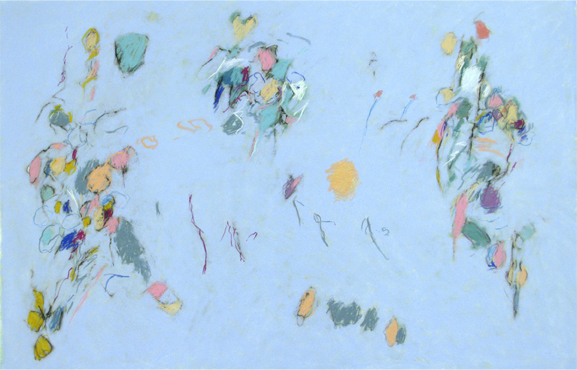 Fredrick Nelson, 'Blue Prelude', 2011, Drawing, Collage or other Work on Paper, Pastel on paper, Atrium Gallery