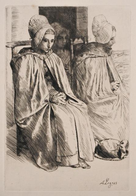 Alphonse Legros, 'Paysannes des Environs de Boulogne (Peasant women from near Boulogne)', 1873, Print, Etching, Hans den Hollander Prints