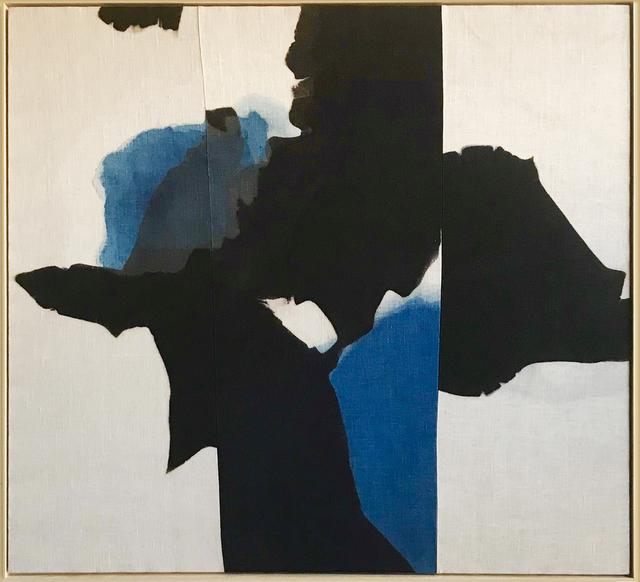 Carrie Crawford, 'Widening Circles', 2019, Painting, Indigo, logwood, oak gall, acorn, iron, and black walnut dye on linen, Uprise Art