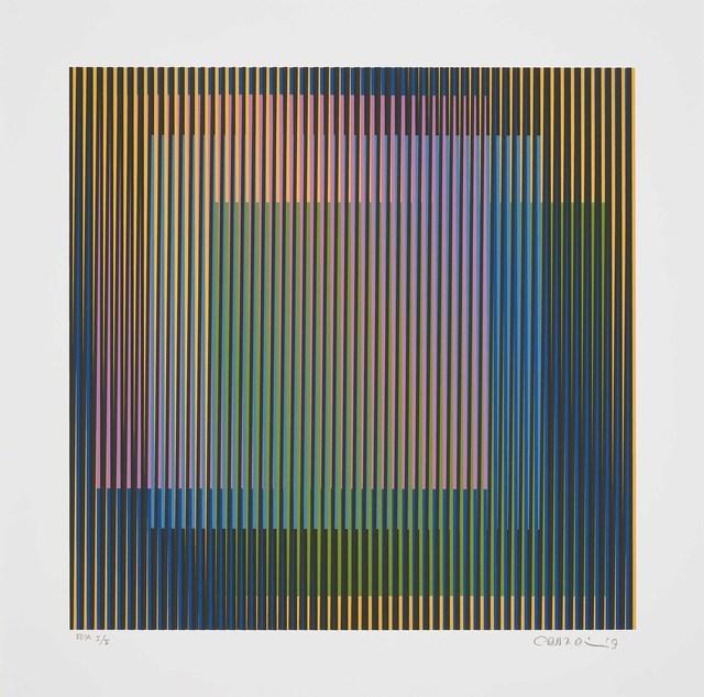 Carlos Cruz-Diez, 'Induction chromatique à double Fréquence 3', 2019, Cristea Roberts Gallery