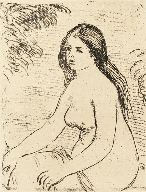 Joan Miró, 'Femme Nue Assise (Nude Girl Sitting)', 1909, Print, Soft ground etching, Davidson Galleries