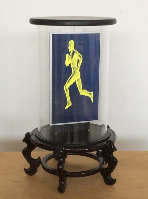 , 'Running Man On Chinese Stand II,' 2015, Hosfelt Gallery