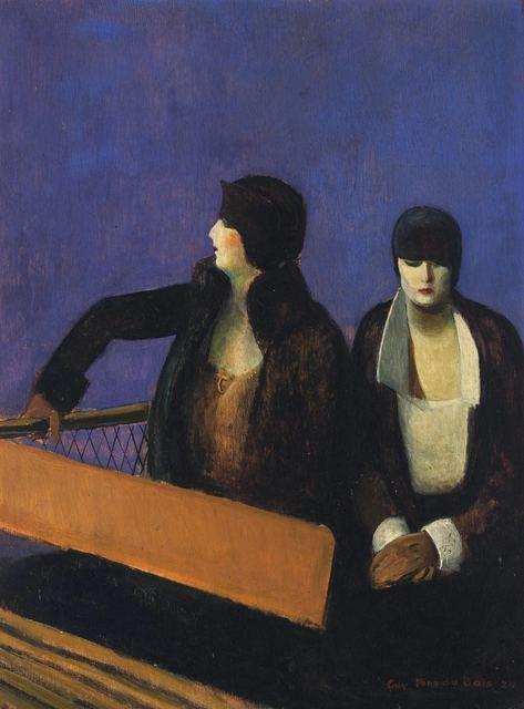 Guy Pène du Bois, 'Bus Top [On Top of the Bus]', 1924, Painting, Oil on panel, Doyle