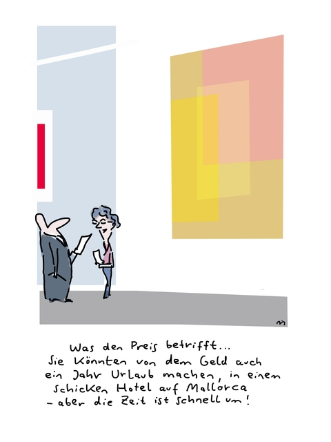 , 'Was den Preis betrifft,' 2018, Galerie Floss & Schultz