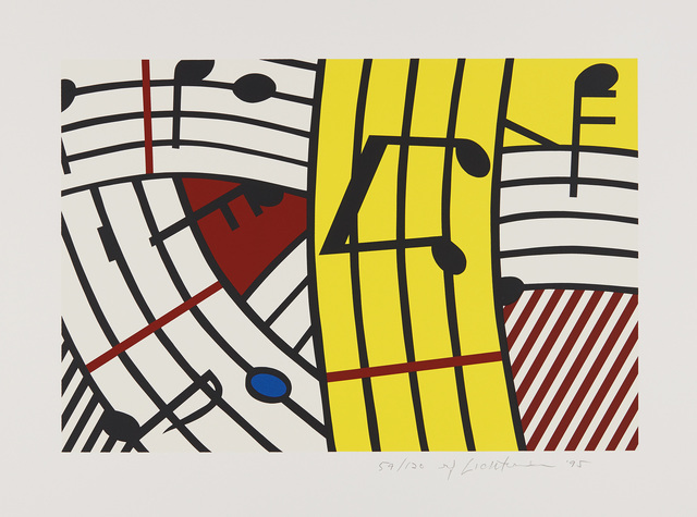 Roy Lichtenstein, 'Musical Notes (Composition IV)', 1995, Print, Screenprint in colors, on Rives BFK paper, with full margins., Phillips