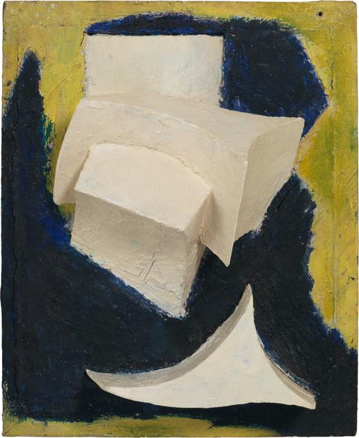 , 'Ohne Titel (Bewegtes Weiss auf Blau und Gelb) ,' ca. 1944, Galerie Knoell, Basel