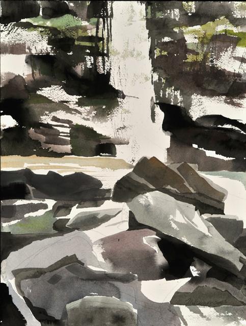 Mariella Bisson, 'Plattekill Falls, Rock and Waterfall Field Painting', Momentum Gallery