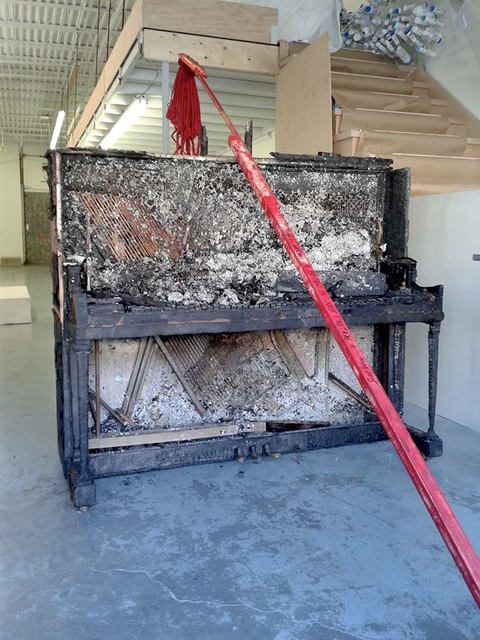 , 'Burnt Piano (Everything Is Under Control/Bang Me to Death),' 2015, Robert Kananaj Gallery