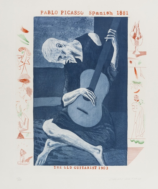 David Hockney, 'The Old Guitarist (from The Blue Guitar) (M.C.A. Tokyo 179)', 1976-77, Forum Auctions
