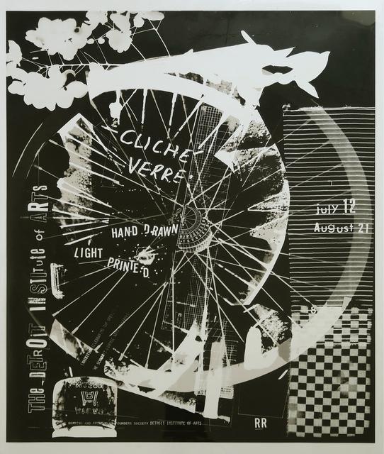 Robert Rauschenberg, 'Cliché Verre', 1980, Alternate Projects