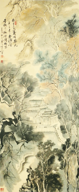 , 'Pavilion of thousands of celest 万仙楼 ,' 2012, Tian Bai Calligraphy and Painting (天白書畫)